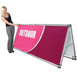 easy sports banner stand